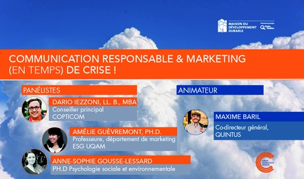 Communication responsable et marketing (en temps) de crise ! image